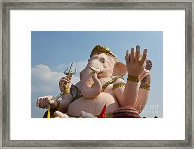 Ganesha Statue Framed Print by Tosporn Preede