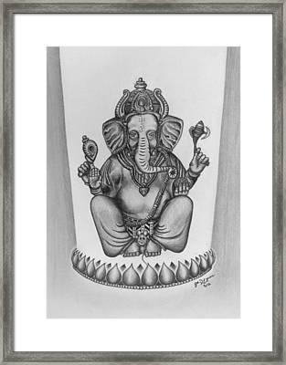 Ganesha Framed Print by Steven Eynon
