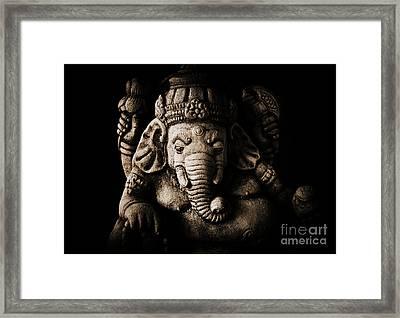 Ganesha The Elephant God Framed Print by Tim Gainey