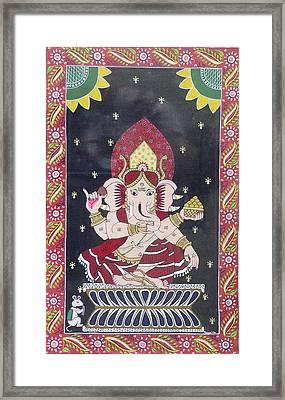 Ganesha The Hindu God Framed Print by Prasida Yerra