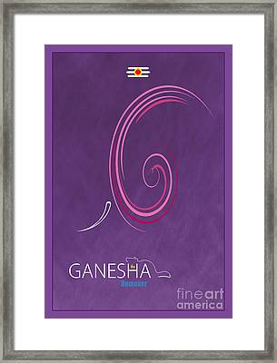 Ganesha The Remover Framed Print by Tim Gainey