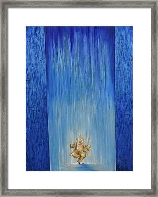 Ganesha Vidyavaridhi Framed Print by Durshit Bhaskar