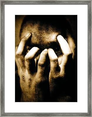 Gang Member Hands Framed Print