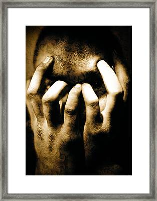 Gang Member Hands Framed Print by Yo Pedro