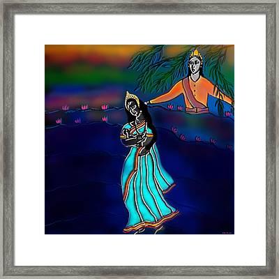 Ganga Devi And Santhanu Framed Print by Latha Gokuldas Panicker
