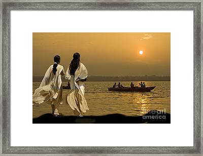 Ganges Every Day Framed Print by Angelika Drake