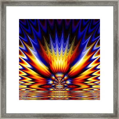 Ganges River Coloring.  2013  80/80 Cm.  Framed Print by Tautvydas Davainis