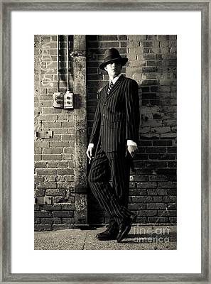 Gangster Framed Print by Diane Diederich