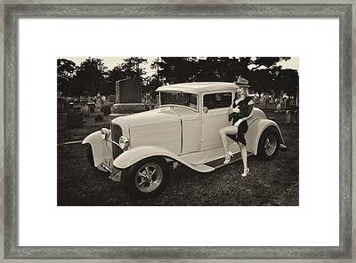 Gangster Girl Framed Print by Jim Poulos