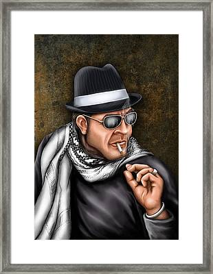 Gangster Portrait Framed Print