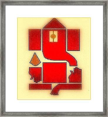 Ganpati Deva Framed Print by Mannoj Umale