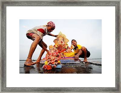 Ganpati Prccession Framed Print