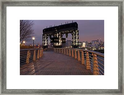 Gantry Plaza - Long Island City - Queens - Ny Framed Print by Juergen Roth