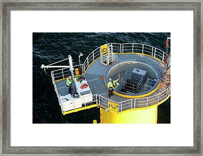 Gantry To A Wind Turbine Framed Print by Ashley Cooper