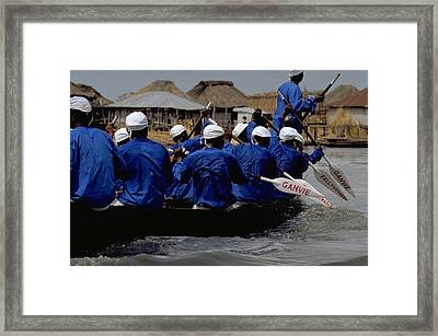 Framed Print featuring the photograph Ganvie - Lake Nokoue by Travel Pics