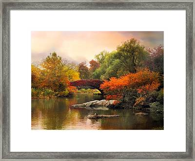 Gapstow At Twilight Framed Print