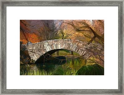 Gapstow Bridge In Central Park Framed Print by GCannon