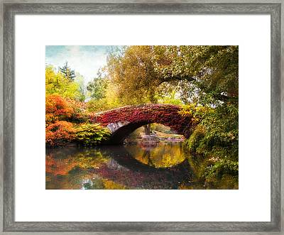 Framed Print featuring the photograph Gapstow Bridge  by Jessica Jenney