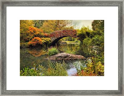 Framed Print featuring the photograph Gapstow Bridge Serenity by Jessica Jenney