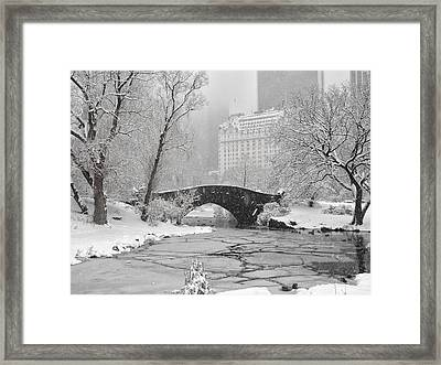 Gapstow On Ice Framed Print