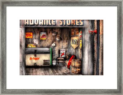 Garage - Advance Stores  Framed Print