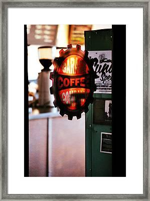 Garage Coffee Company Framed Print by Chastity Hoff
