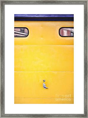Garage Door Framed Print by HD Connelly
