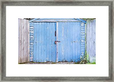 Garage Door Framed Print