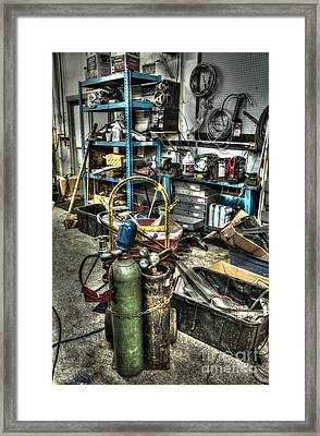 Garage Mentality Framed Print by Jimmy Ostgard
