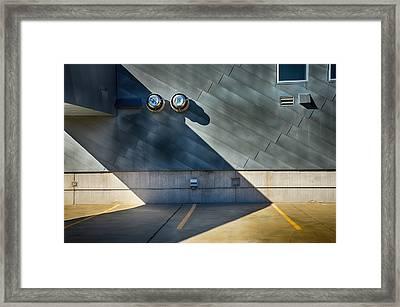 Garage Rooftop Framed Print