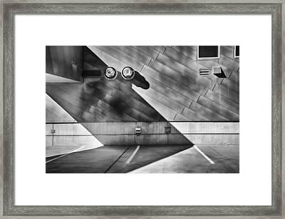 Garage Rooftop Bw Framed Print