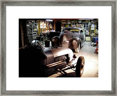 Garage Tour Framed Print