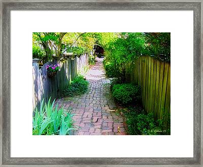 Garden Alley Framed Print