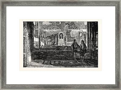 Garden And Fountains Of The House Of Lucretius Framed Print
