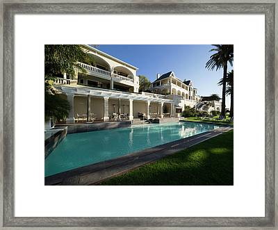 Garden And Swimming Pool At Ellerman Framed Print