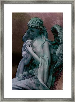 Forest Angel 3 Framed Print by WB Johnston