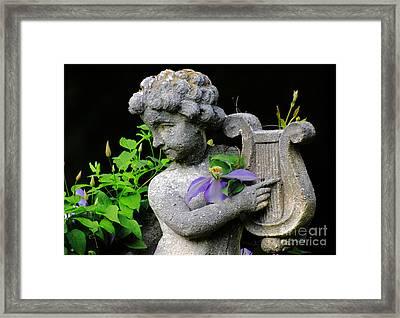 Garden Angel Framed Print by Charline Xia