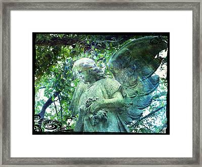 Garden Angel - Divine Messenger Framed Print by Absinthe Art By Michelle LeAnn Scott