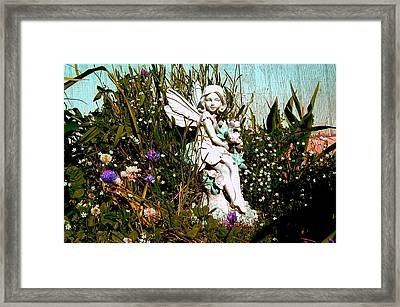 Garden Angel Framed Print by Mavis Reid Nugent