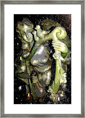Garden Angel Framed Print by Terry Atkins