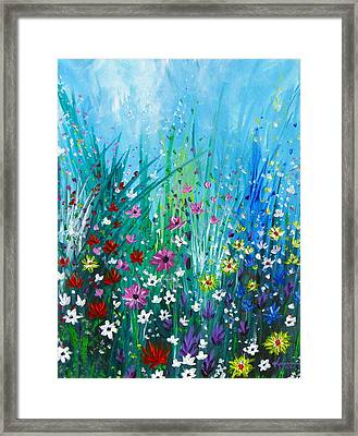 Garden At Early Morning Framed Print by Kume Bryant