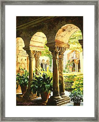 Garden At Saint Remy Provence Framed Print by David Lloyd Glover