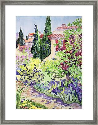 Garden At Vaison Framed Print by Julia Gibson