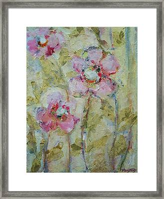 Framed Print featuring the painting Garden Bliss by Mary Wolf