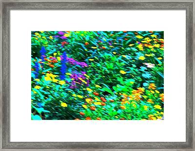 Garden Breeze Framed Print