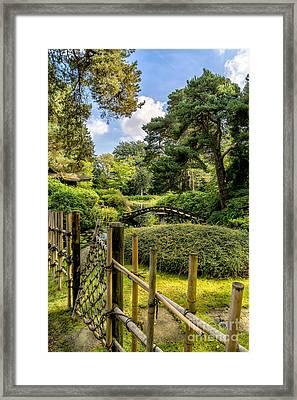 Garden Bridge Framed Print by Adrian Evans