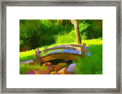 Garden Bridge Framed Print by Gerry Robins