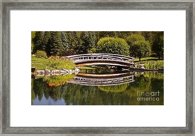 Garden Bridge Framed Print