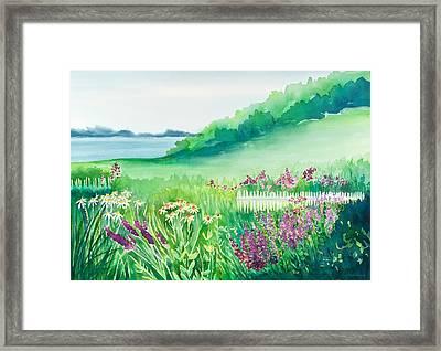 Garden By The Sea Framed Print