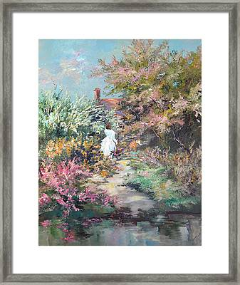 Garden By The Water Framed Print by Steven Nevada